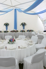 beautiful tent reception
