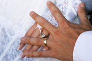 bride and groom wedding ring photo