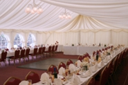 beautiful tent and table decor