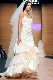 wedding gown at bridal fashion show