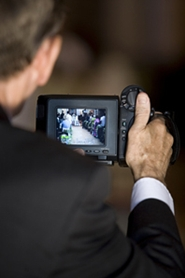 videotaping the wedding ceremony
