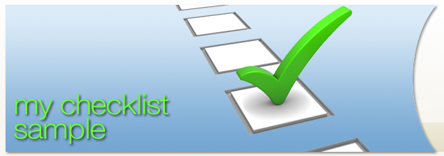 My Checklist Sample banner image